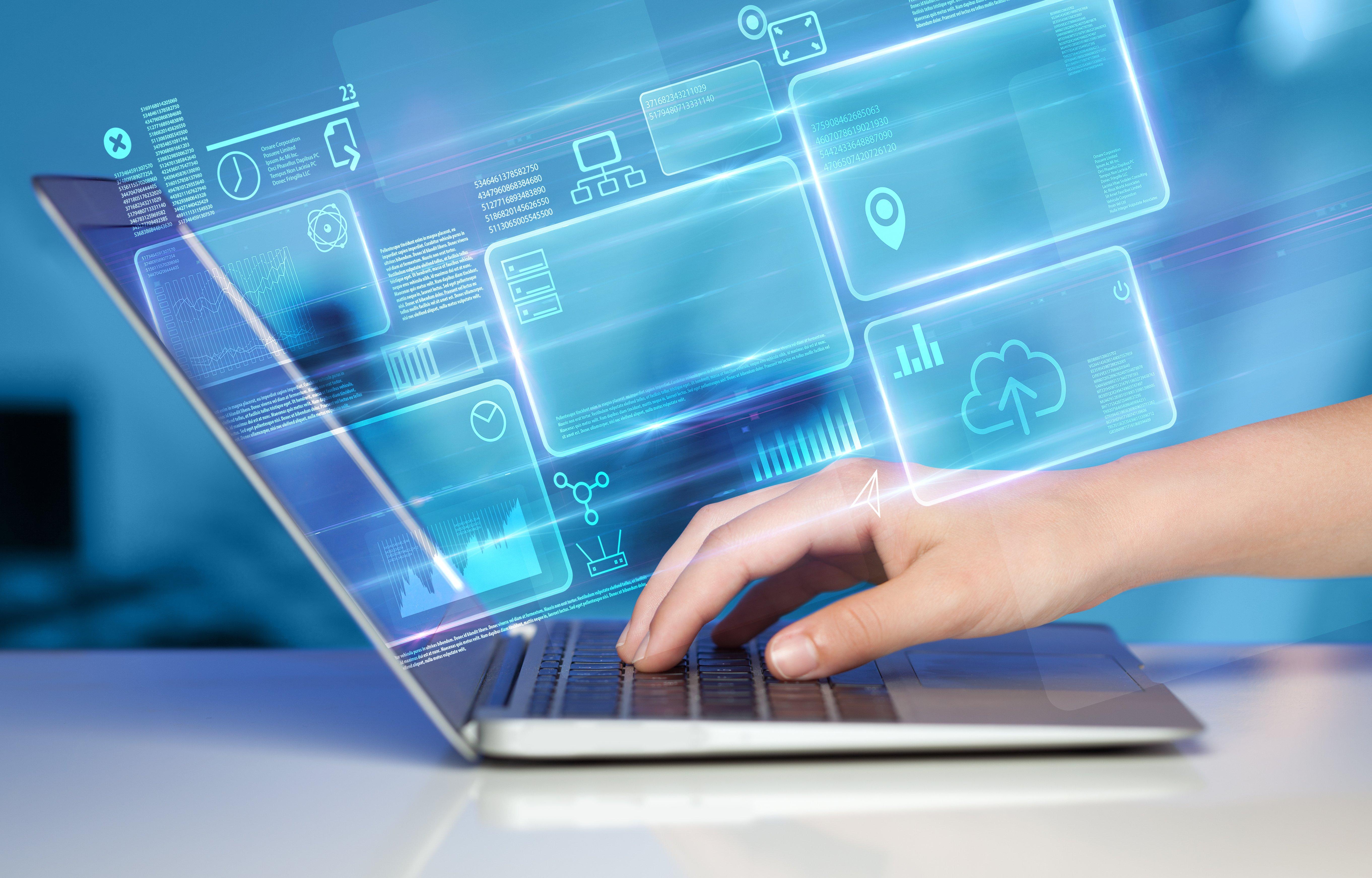 SalesVista Technology on Laptop